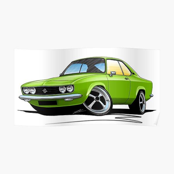 Opel Manta A Green Poster