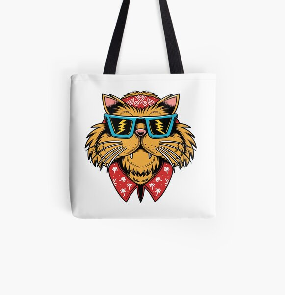 Californian Cat - designed by Joe Tamponi All Over Print Tote Bag