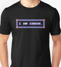 Legend of Zelda - Adventure of Link - I AM ERROR. T-Shirt