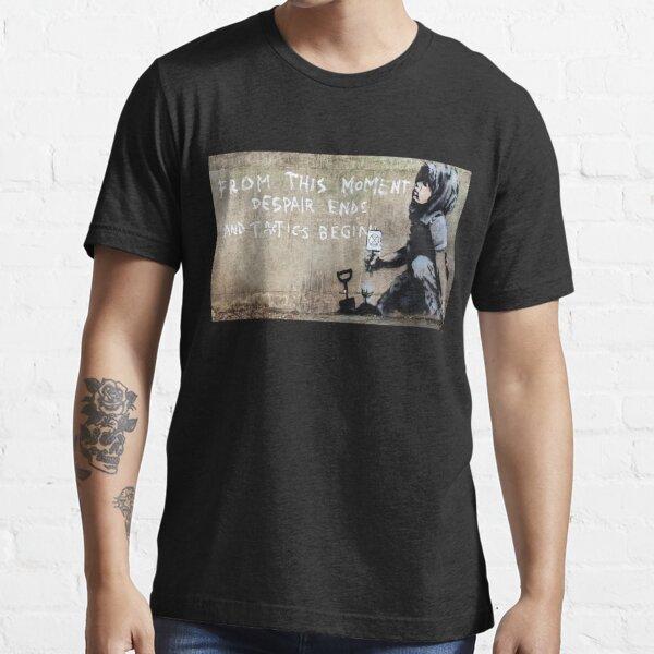 Banksy - Despair Ends And Tactics Begin Essential T-Shirt
