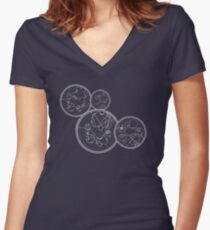 Doctor Who Gallifreyan - We're All Stories quotes Women's Fitted V-Neck T-Shirt