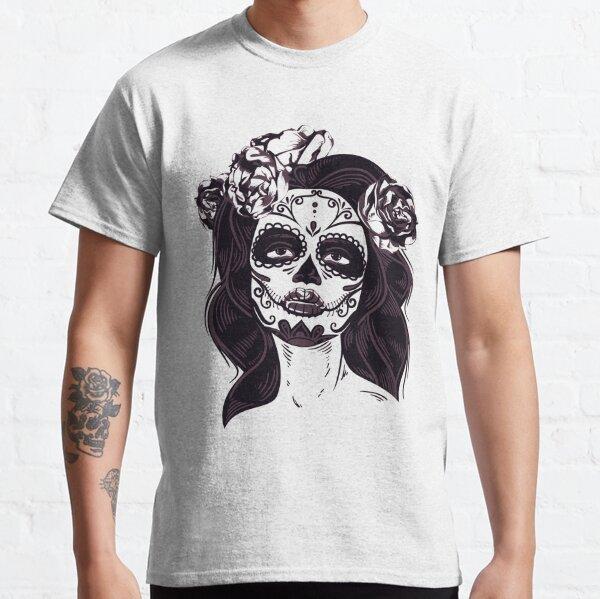 Beautiful Female Sugar Skull Classic T-Shirt