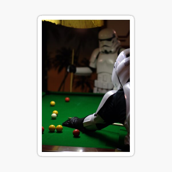 playing pool Sticker