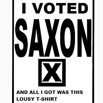 I Voted Saxon  by Thowell3