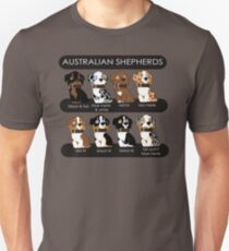 Camiseta unisex Pastores australianos