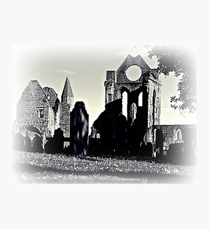 Arbroath Abbey, Scotland In B&W Photographic Print