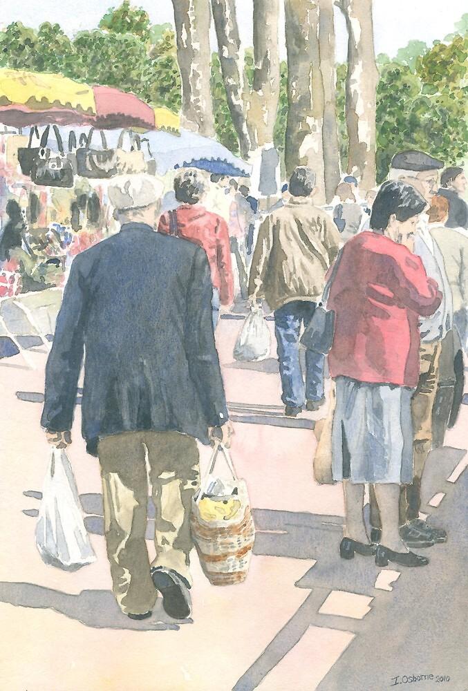 Wednesday morning at Piégut market, France by ian osborne