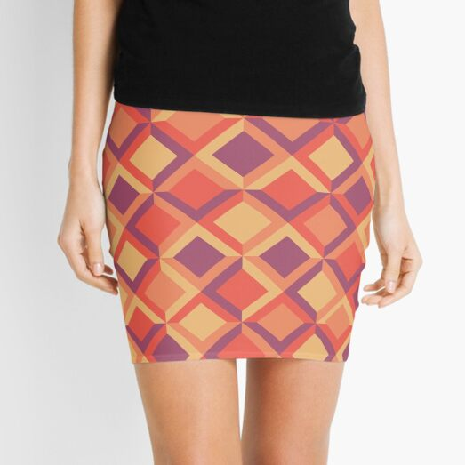 Copy of Geometric Pattern Mini Skirt