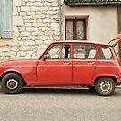 "Renault 4, ""Quatrelle"", Red by Hans Kool"