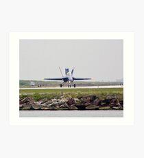Blue Angel #7 landing Art Print