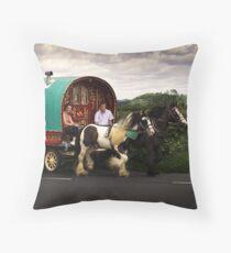 Two Horse Power Throw Pillow