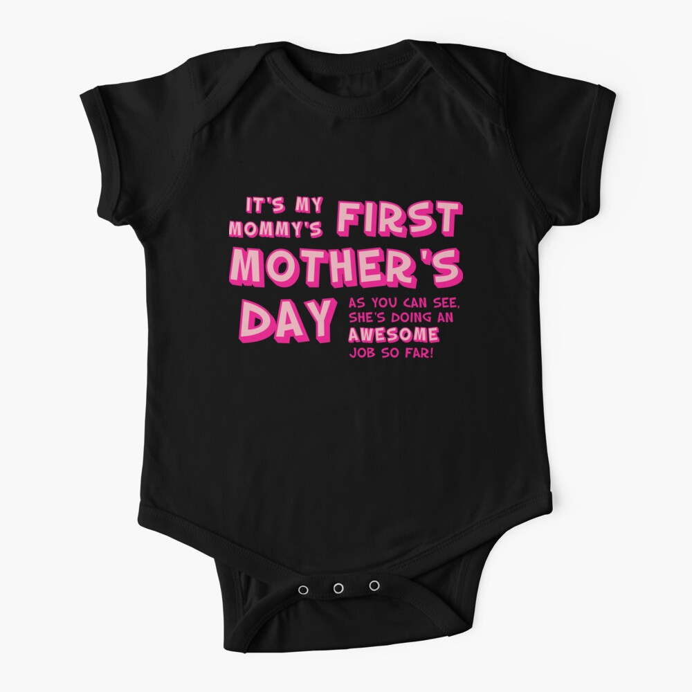 Mommy's First Mother's Day Baby One-Piece