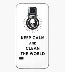 Funda/vinilo para Samsung Galaxy keep calm and clean the world  DN