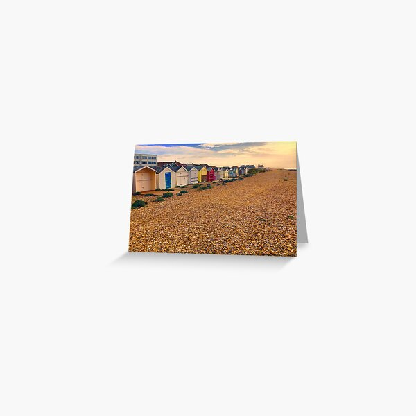 Lancing Beachhuts 3 West Sussex ( Lancing - West Sussex) Greeting Card