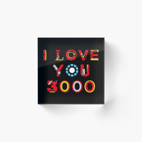 I Love You 3000 v2 Acrylic Block