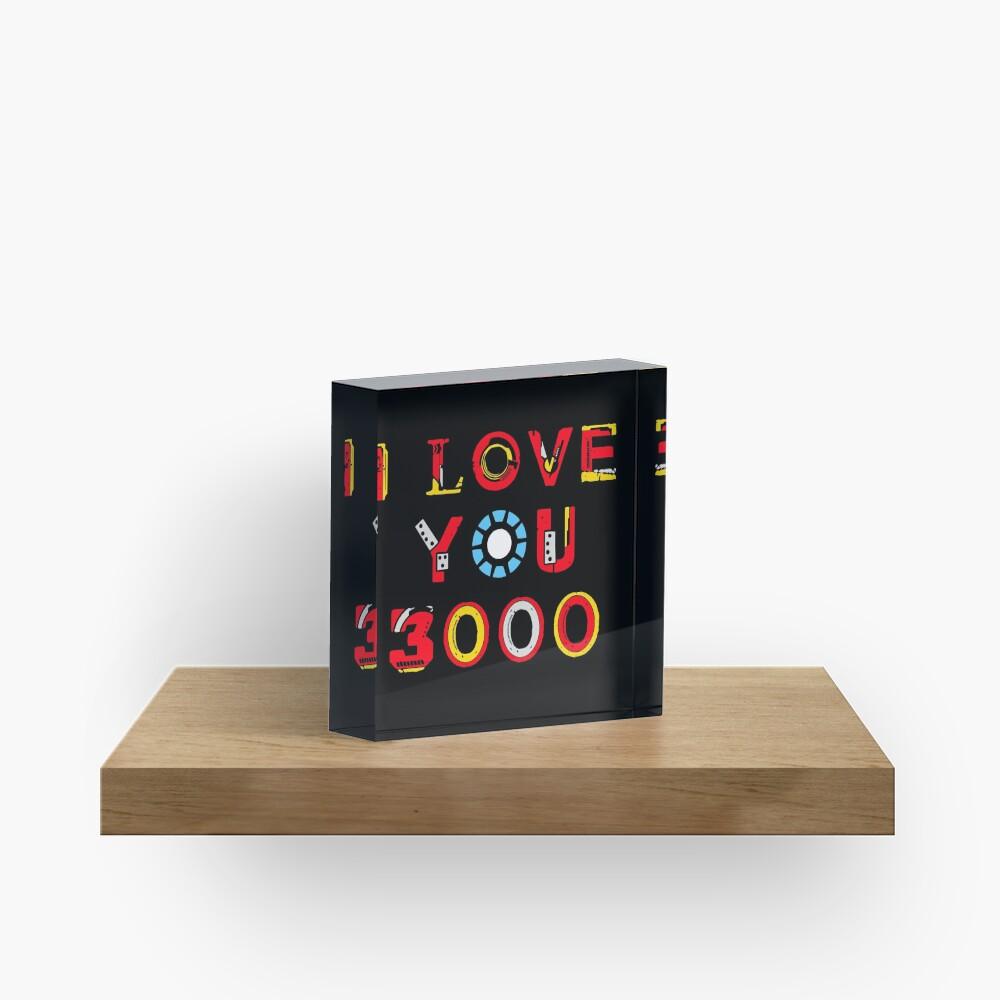 I Love You 3000 v2 Acrylic Block