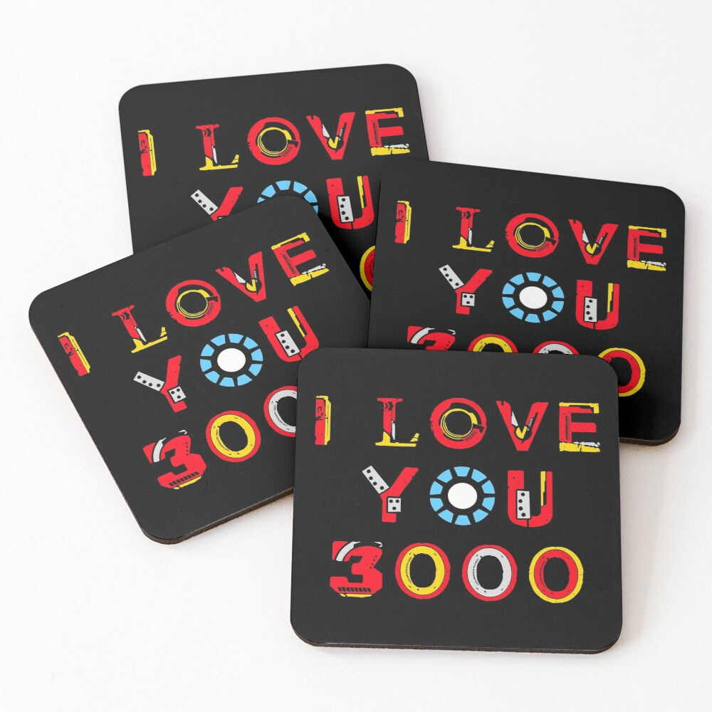 I Love You 3000 v2 Coasters (Set of 4)