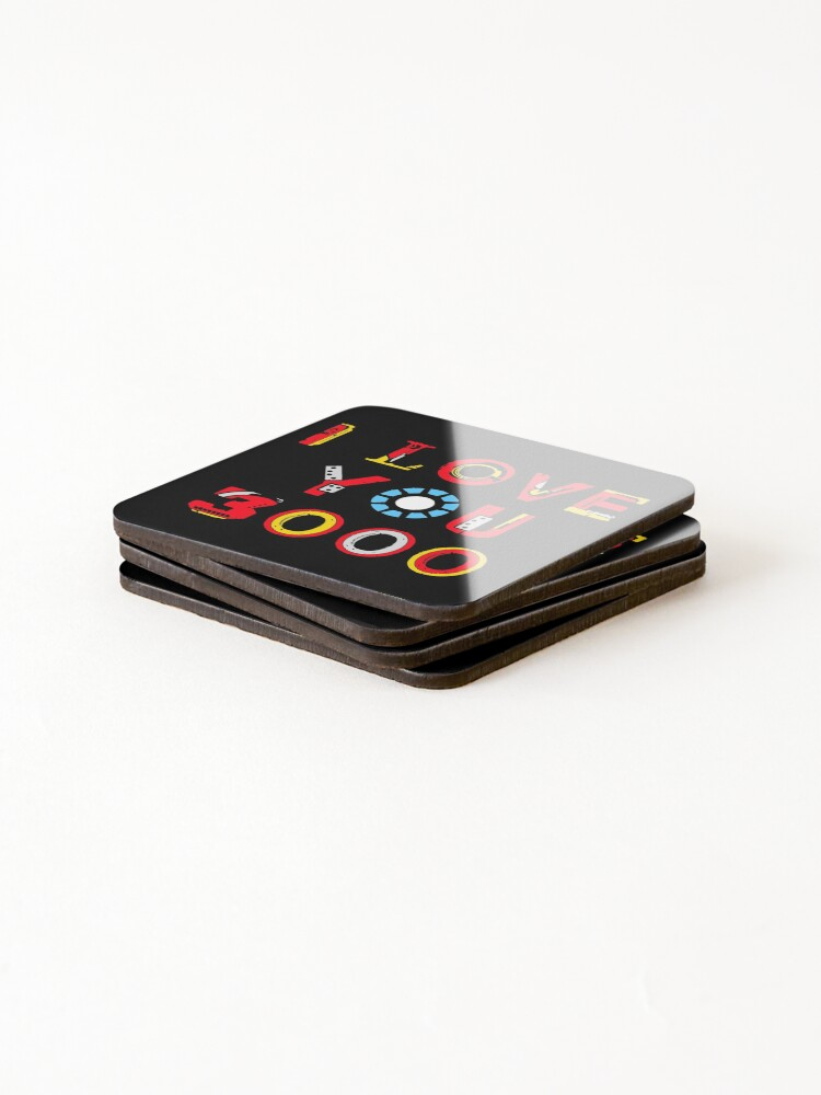 Alternate view of I Love You 3000 v2 Coasters (Set of 4)