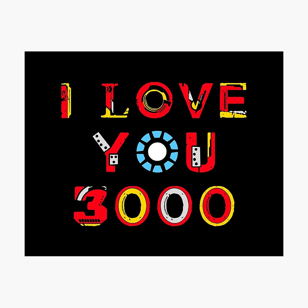 I Love You 3000 v2 Photographic Print