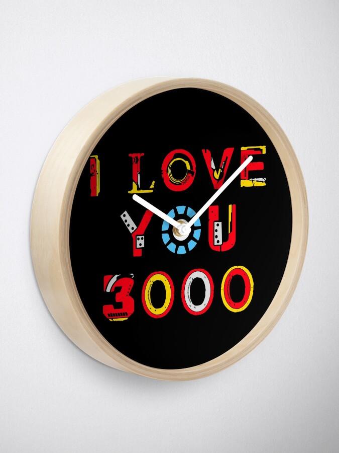 Alternate view of I Love You 3000 v2 Clock