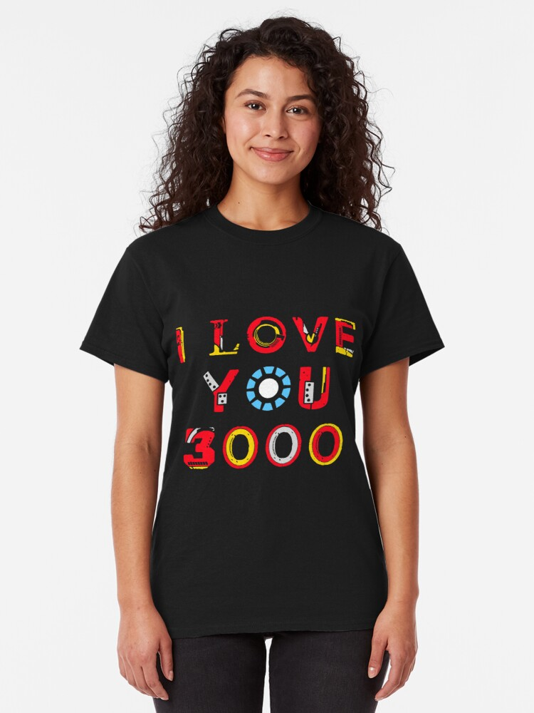 Alternate view of I Love You 3000 v2 Classic T-Shirt