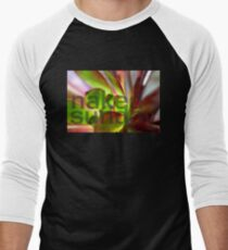 Purple Aeonium Macro No1 Men's Baseball ¾ T-Shirt