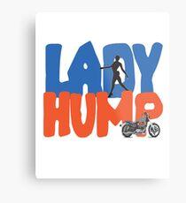 Motorrad Lady Hump Sportster Metallbild
