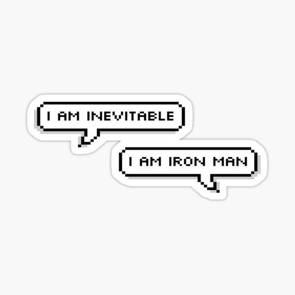 Inevitable Quote Sticker
