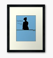 Don't Be Defeatist Framed Print