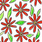 Red Flowers by Deb Coats