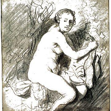 Rembrandt van Rijn: Drawings. DIANA AT HER BATH c. 1630-31 181 x 164 mm. British Museum, London by znamenski