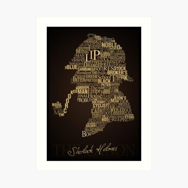 Sherlock Holmes El Canon Lámina artística