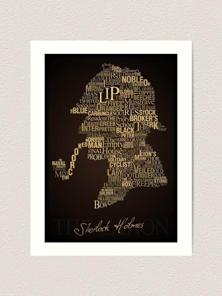 Alternate view of Sherlock Holmes The Canon Art Print