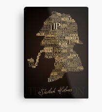 Sherlock Holmes The Canon Metal Print
