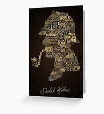 Sherlock Holmes The Canon Greeting Card