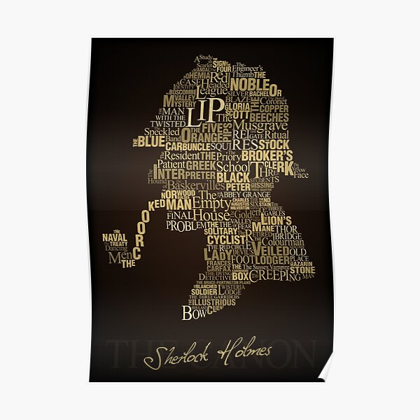 Sherlock Holmes Le Canon Poster