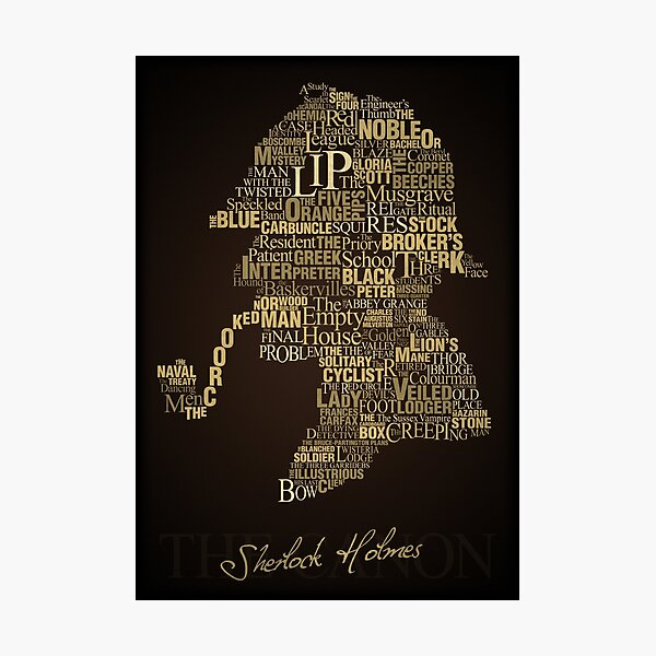 Sherlock Holmes The Canon Photographic Print