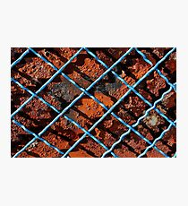Vintage net background of rusty iron net Photographic Print