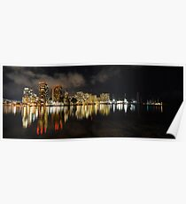 City Lights and Reflections Wide Poster