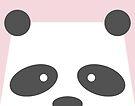 Peek-a-Boo Panda, Soft Pink by Kendra Shedenhelm