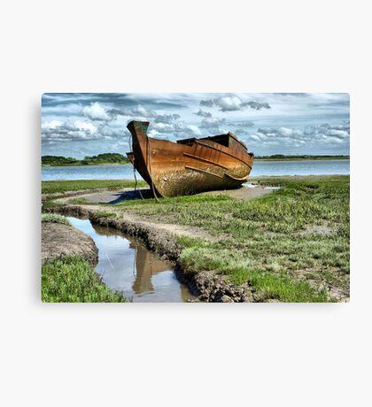 Wyre Estuary  Wrecks  Canvas Print
