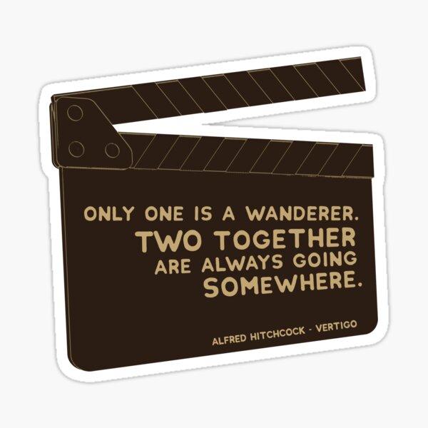 Alfred Hitchcock Vertigo Quote Sticker