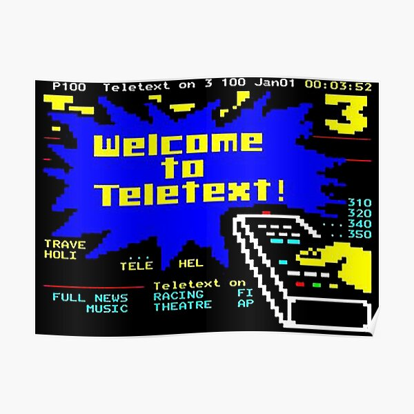 Welcome to Teletext! Poster