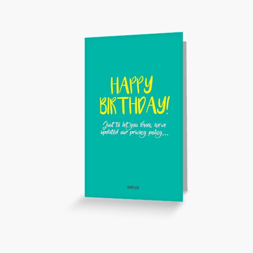 Simplee Cards: Privacy Policy Greeting Card