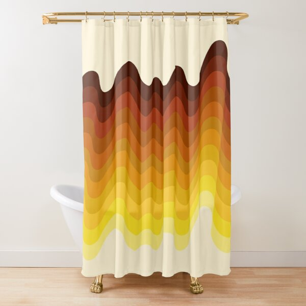 Retro Ripple Shower Curtain