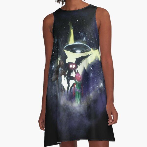 West Virginia Cryptids Nebula A-Line Dress
