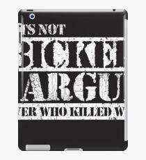 Lets Not Bicker iPad Case/Skin