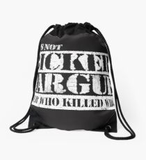Lets Not Bicker Drawstring Bag