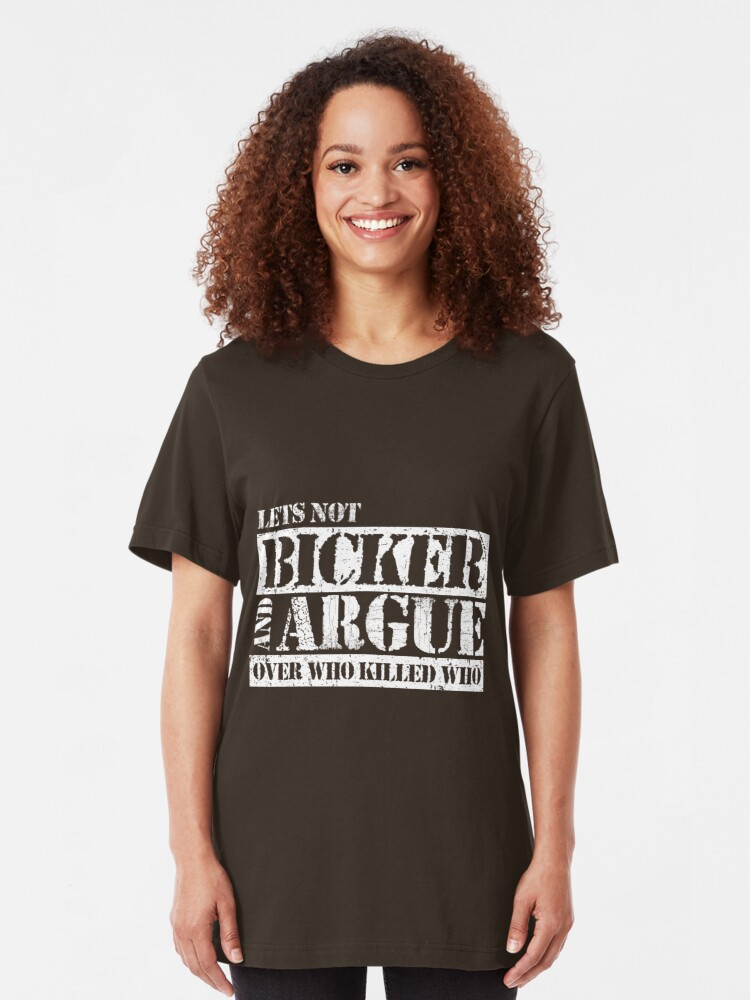 Alternate view of Lets Not Bicker Slim Fit T-Shirt