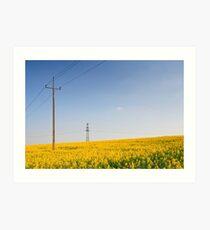 Yellow Electricity  Art Print